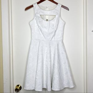 XOXO white floral pleated dress